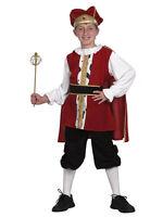 Childs Boys Medieval Tudor King Fancy Dress Costume Book Week Christmas Nativity
