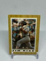 Jim Rice 1987 Topps League Leaders Minis #44 Boston Red Sox baseball HOF