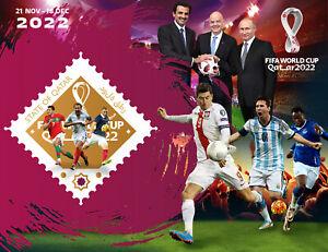 FIFA WORLD CUP QATAR 2022, stamps Russia 2021, Putin, Ronaldo, Messi