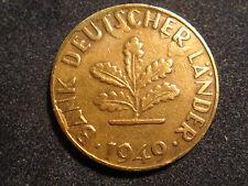 10 Pfennig BDL 1949 J Fehlprägung Bank Deutscher Länder Deutsche Mark DM