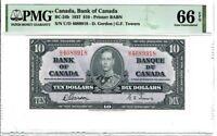 Canada $10 Dollar Banknote 1937 BC-24b PMG GEM UNC 66 EPQ