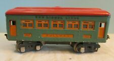 Vintage, 607 Lionel lines metal  Pullman Passenger Car, green w/red top
