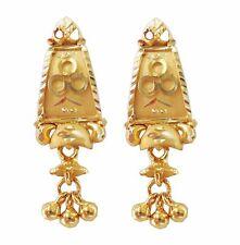 Certified Beautiful Solid 22K Yellow Fine Gold Designer Indian Handmade Earrings