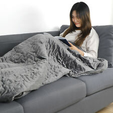 Natural 100% Breathable Cotton Weighted Blanket Reduce Stress Anxiety