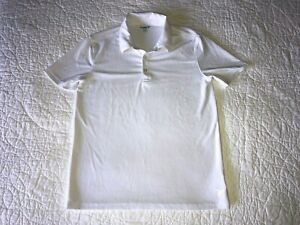 Boys OLD NAVY Active White Polo Shirt Size L Large (10-12) EUC!
