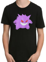 Pokemon Gengar Black Men's Graphic T-Shirt New