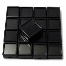 10 Pcs 3x3 cm Gem Display Black plastic box Storage for Gemstones / Diamond