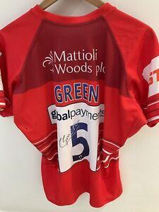 Leicester Tigers Calum Green Signed European Challenge Cup Match Shirt