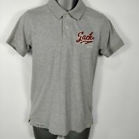 MENS JACK JONES GREY ST JAMES POLO SHIRT TOP S SMALL