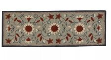 Park Design GRAY FLORAL HOOKED RUG RUNNER 2' X 6' NEW