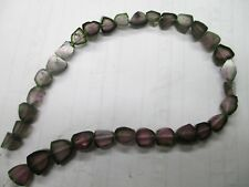 """WoW 8"""" Watermelon Tourmaline  Natural Crystal  Beads strand Afg T303"""