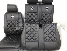 IN STOCK!!! VW TRANSPORTER T5 VAN SEAT COVERS VW BADGE  BENTLEY 150BKBKVWSC
