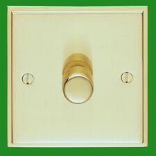 2x Victorian Brass 1 Gang 2 Way Dimmer Light Switch Lamp Knob, 40-400W, 220-240V