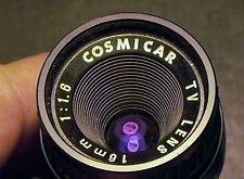 Cosmicar 16mm F:1.6 Cmt.lens Pentax Q Q10 Q7 Q-S1 or Nikon 1 series 9+Cond