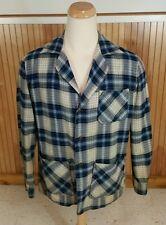 Vtg Distressed Arrow Shadow Plaid Sports Jacket Coat Blazer Work Shirt 50s Wool