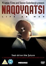 NAQOYQATSI- LIFE AS WAR (DVD) REGION: 2, NEW AND SEALED, FREE POST IN AUSTRALIA