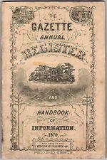 The Gazette Annual Register and Handbook of Information 1870, Cincinnati, OH