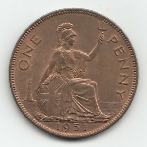 Very Rare - George VI 1951 Penny 1d.