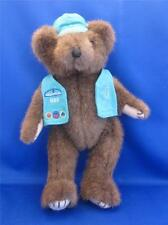 "Mary Meyer Jointed Brown Plush Teddy Bear w/ Girl Scout Vest & Hat 11"" Tall"