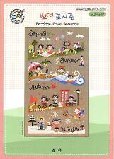"""Petit Four Seasons"" Counted cross stitch pattern leaflet. Big Chart.SODA SO-G37"