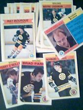 BOSTON BRUINS 82/83 HOCKEY TEAM O-PEE-CHEE CARDS SET *** LOT OF 19-CARD SET ***