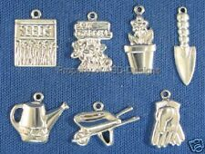 140pc S/S Plate Outdoor Garden Planting Lot Charms 6175