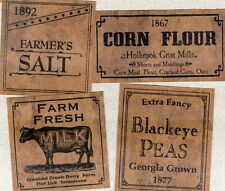26 Primitive Farmhouse Pantry Favorite Labels Set B