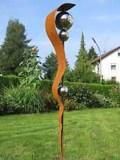 Stele Gartendeko Skulptur Edelstahlkugel rost rostig 5