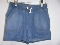 GIRLS SIZE 6X JUMPING BEANS MEDIUM BLUE DENIM DRAWSTRING SHORTS NEW #15066