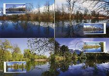 Liechtenstein 2017 MAXI Nature Reserves Gampriner Seelein 4v Cards Trees Stamps