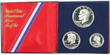 1776-1976 Bicentennial Silver Proof 3 Coin Set United States Mint