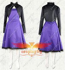 Darker than Black Yin Purple Dress Cosplay Costume Coat Custom Size For Xmas