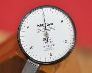 """Mitutoyo 513-402 Anti Magnetic .0005"""" Machinist Dial Test Indicator EXC! NO RES!"""