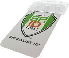 100 Pcs Vertical Half Card Smart Chip Insert Badge Holder - Specialist ID