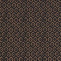 Mistral Ikat Metallic Chenille Velvet Indigo & Copper Curtain/upholstery Fabric