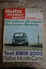 AMS Auto Motor Sport 4/68 BMW 2002 Simca 1200 S Coupe DB /8
