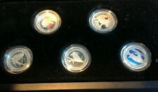 2012 PLATINUM DISCOVER AUSTRALIA COLORIZED PROOF 5-COIN SET - ONLY 1,000 Minted