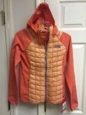 North Face Women's Thermoball Hybrid Hoody Full Zip Size X Small Orange NWT