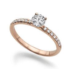 Solitär Ring aus Rotgold mit Diamanten