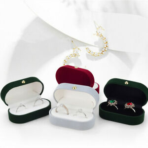 1Pc Portable Double Rings Box Display Jewelry Gift Holder Wedding Ring Box Case