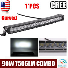 19''inch Curved 90W Single Row CREE LED Work Light Bar Combo SUV Offroad ATV 20