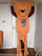 78''Brown BIG CUTE PLUSH TEDDY BEAR Skin semi-finished products toy doll gift