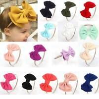 Toddler Baby Girls Bow Knot Headband Polyester Hairband Stretch Turban Head Wrap