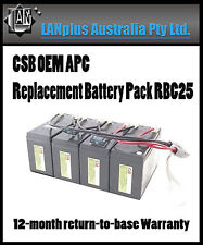 CSB OEM APC Replacement Battery Pack RBC25 4 1400 1500 UPS SU1400rm su1500rm
