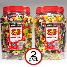 2-Pack Original Jelly Belly Beans  Candy 4-LB  Jar 49 Flavors Kirkland Signature