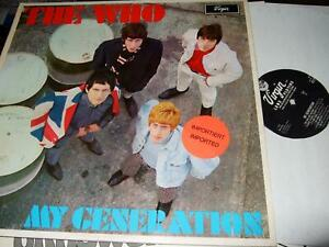 THE WHO : MY GENERATION LP VIRGIN MONO V 2179