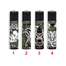 ★1 ACCENDINO CLIPPER GAS LARGE JUNGLE WEED LIMITED EDITION VARI COLORI MOD. 1★