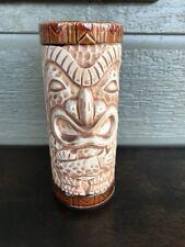 Vintage Tiki Mug Otagiri Japan Brown Matte Peanut Texture Crossed Arms