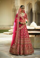 Desigenr Wedding Wear Rose Pink Heavy Embroidery Work Lehenga Choli AF-689