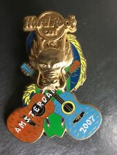 HARD ROCK CAFE PIN AMSTERDAM SKULL WITH 2 GUITARS 2007